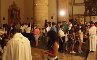 Vigilia y bendición de los peregrinos de la JMJ Regional de Almodóvar del Campo 2013