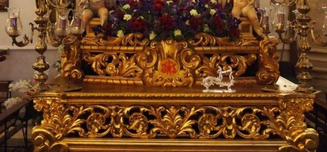 Detalle de la canastilla del Paso de la Oración.