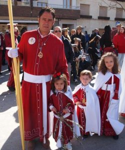 Julián del Amo, Presidente de la Cofradía del Calvario