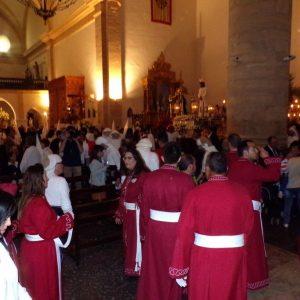 Procesión del Viernes Santo. Antes de la salida