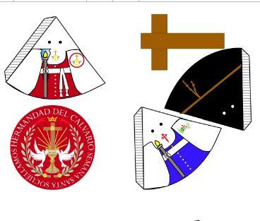 Recortables de los nazarenos de las Cofradías de Socuéllamos